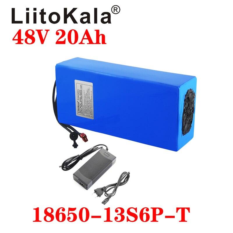 LiitoKala 48V 20AH High power 1000W Electric Bike Battery 48V 20AH E-bike Battery 48 Volt Lithium Battery with BMS 2A Charge